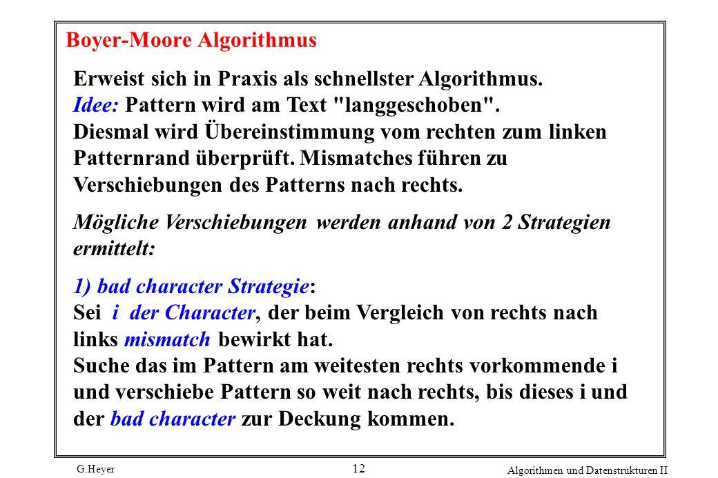 Boyer-Moore Algorithmus