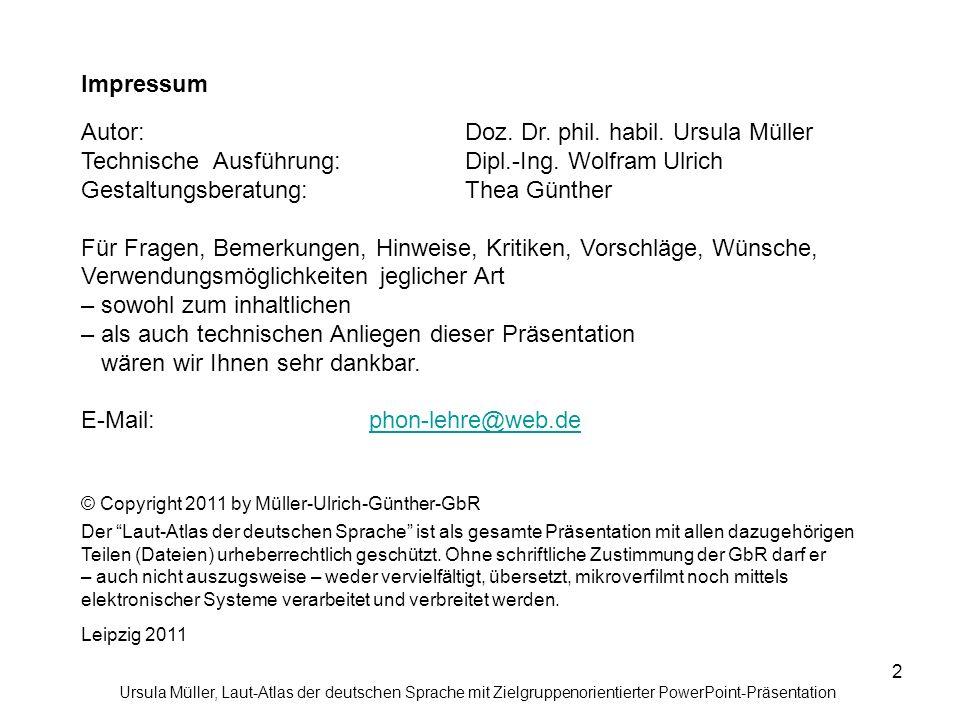 Autor: Doz. Dr. phil. habil. Ursula Müller
