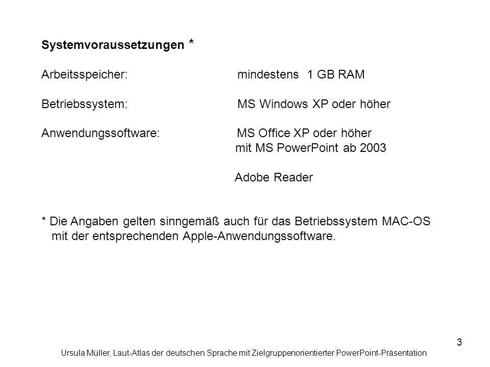 Systemvoraussetzungen * Arbeitsspeicher: mindestens 1 GB RAM