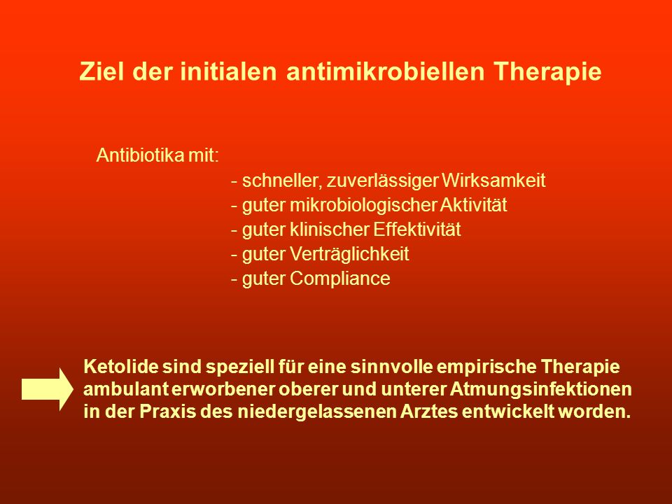 Ziel der initialen antimikrobiellen Therapie