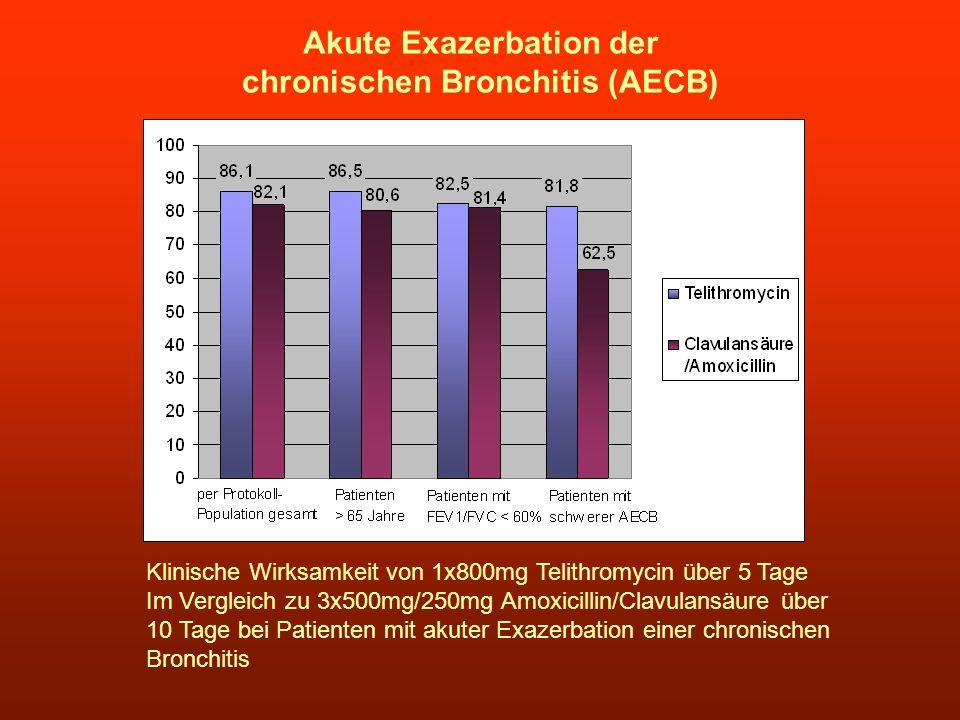 Akute Exazerbation der chronischen Bronchitis (AECB)