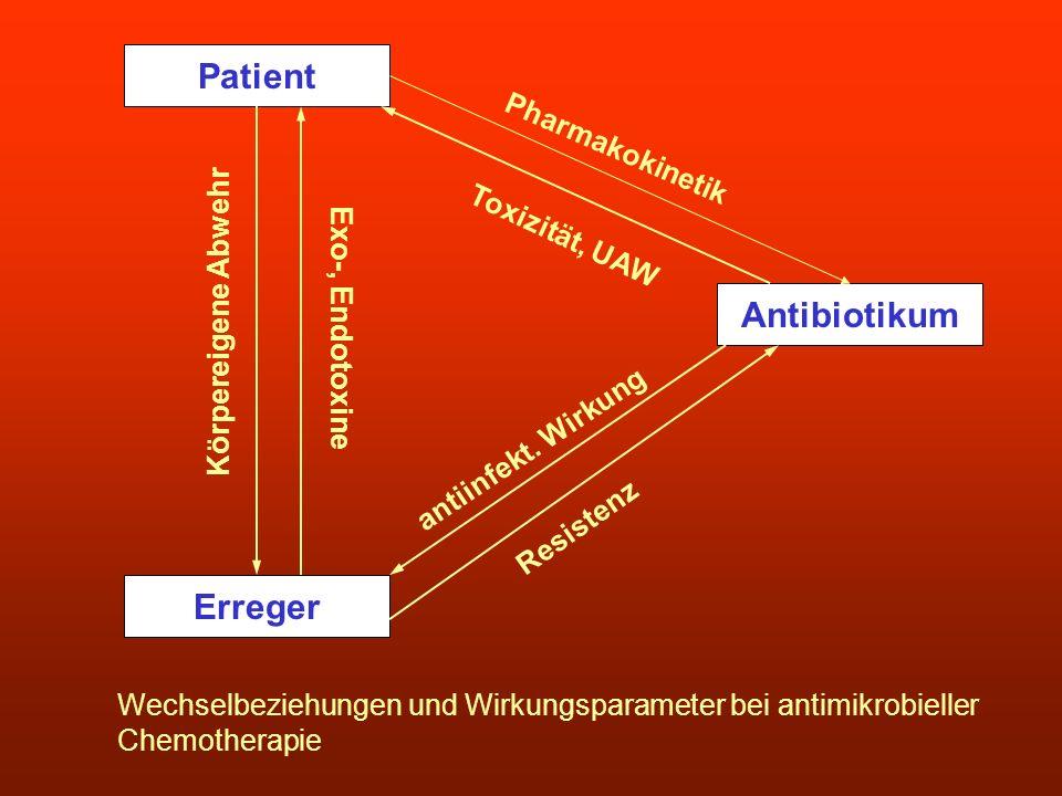 Patient Antibiotikum Erreger