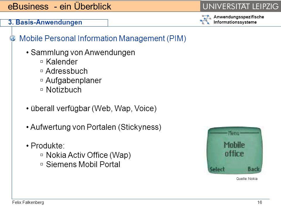 Mobile Personal Information Management (PIM)