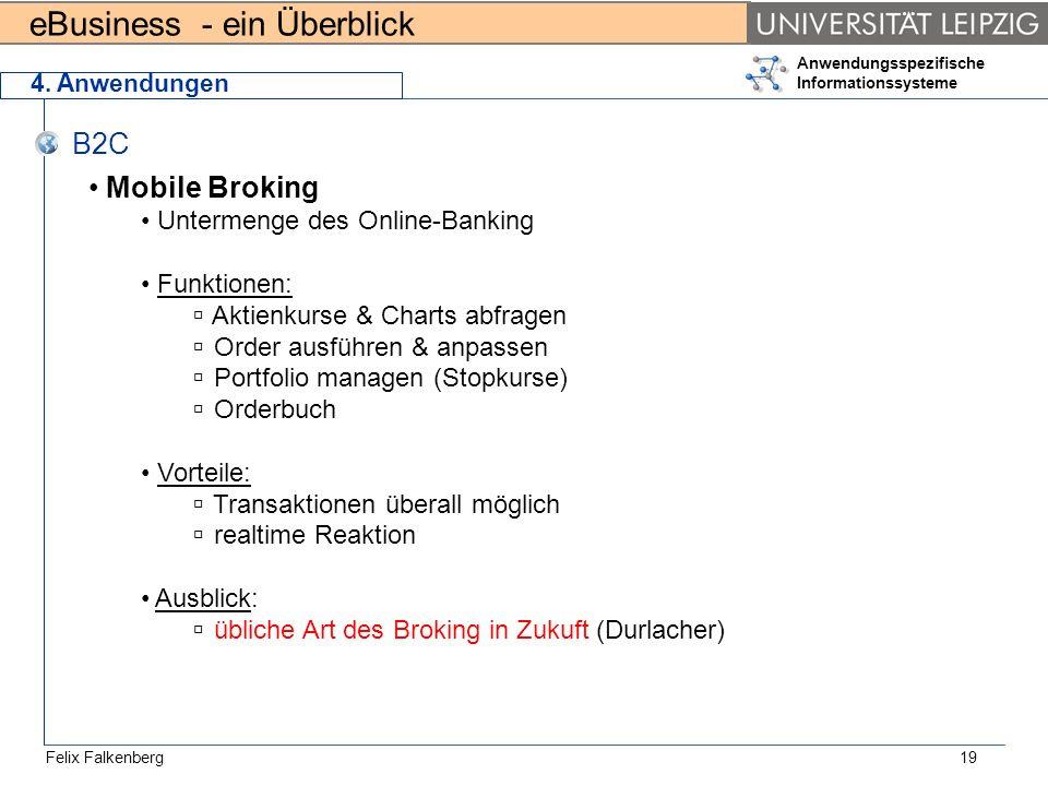 B2C Mobile Broking Untermenge des Online-Banking Funktionen: