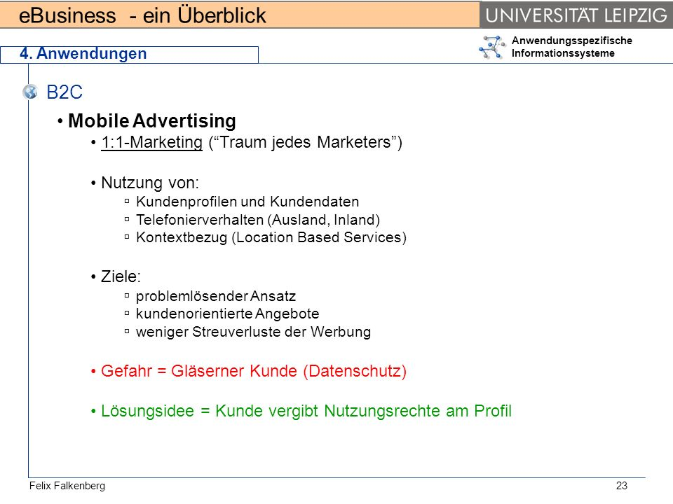 B2C Mobile Advertising 1:1-Marketing ( Traum jedes Marketers )