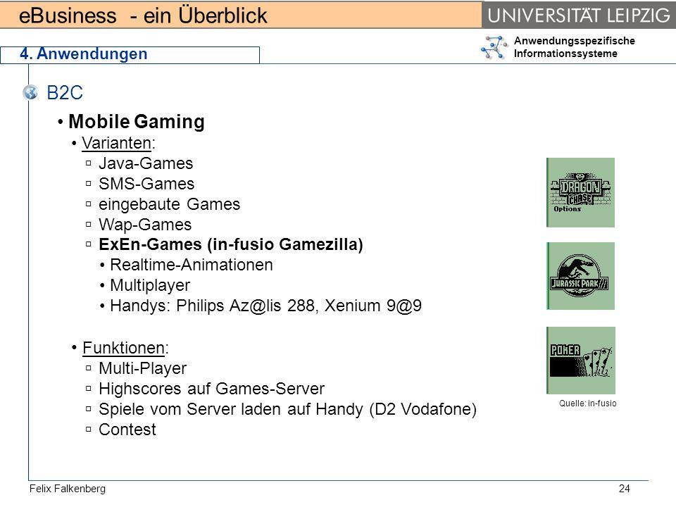 B2C Mobile Gaming Funktionen: Varianten: Java-Games SMS-Games