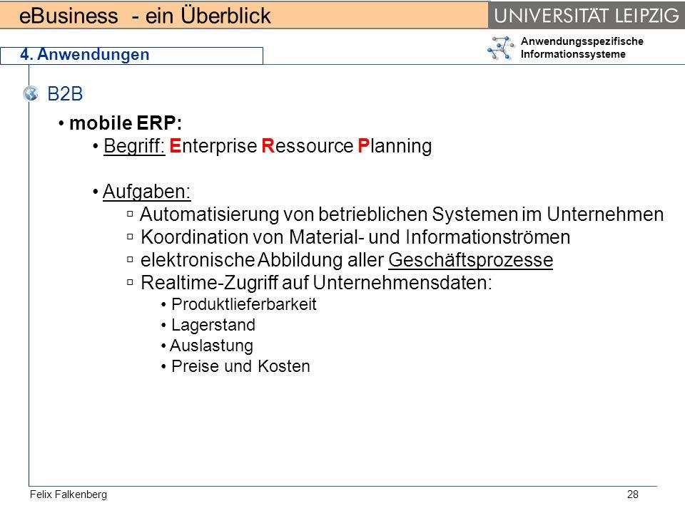 Begriff: Enterprise Ressource Planning Aufgaben: