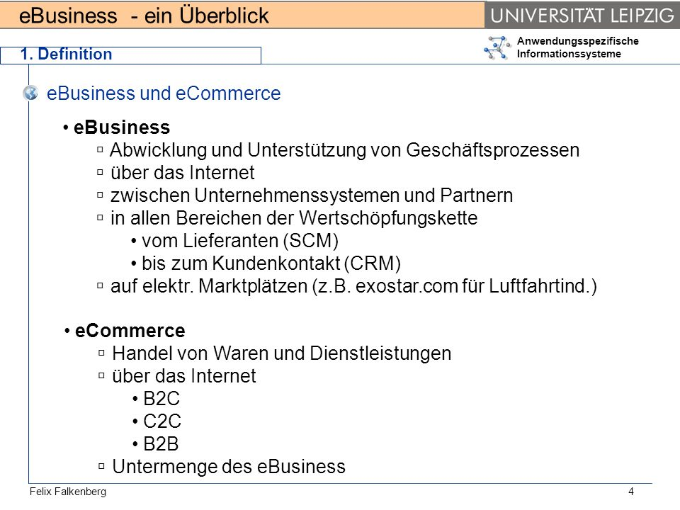 eBusiness und eCommerce