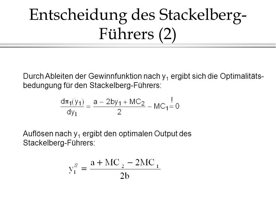 Entscheidung des Stackelberg-Führers (2)