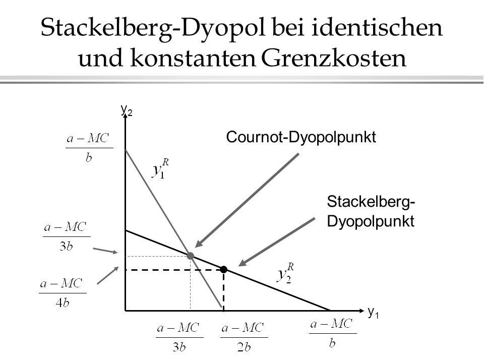 Stackelberg-Dyopol bei identischen und konstanten Grenzkosten