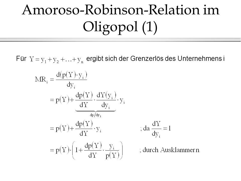 Amoroso-Robinson-Relation im Oligopol (1)