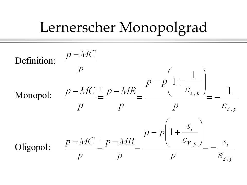 Lernerscher Monopolgrad