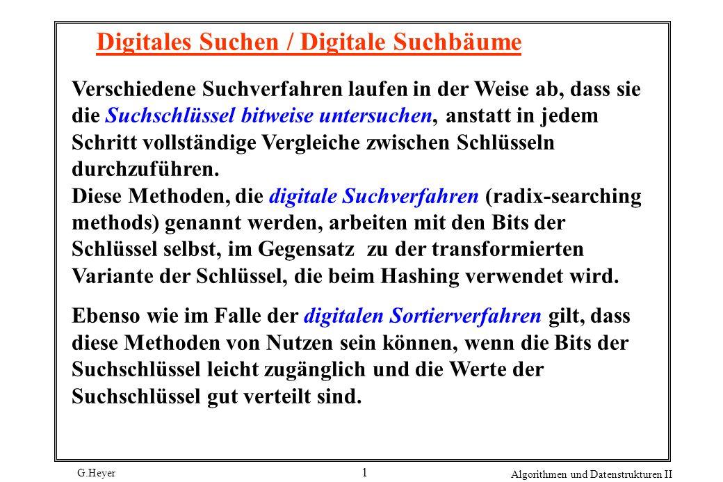 Digitales Suchen / Digitale Suchbäume