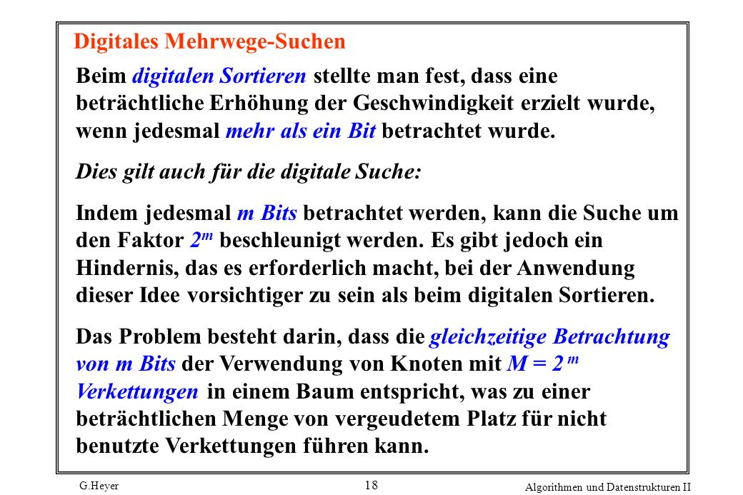 Digitales Mehrwege-Suchen
