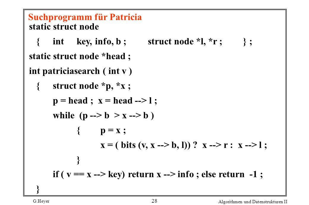 Suchprogramm für Patricia