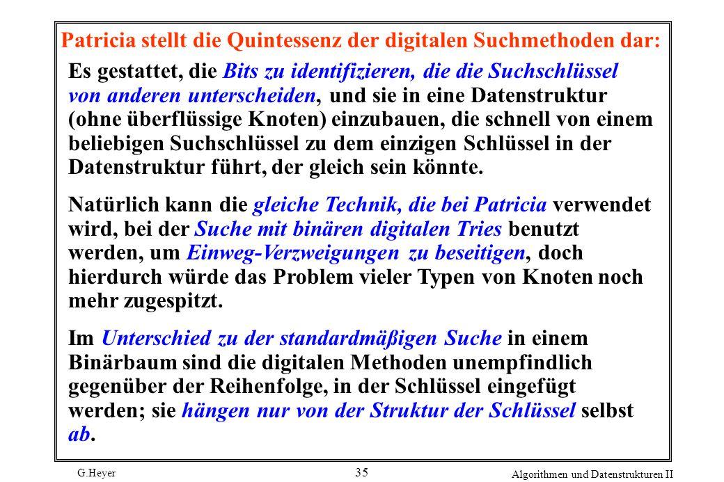 Patricia stellt die Quintessenz der digitalen Suchmethoden dar: