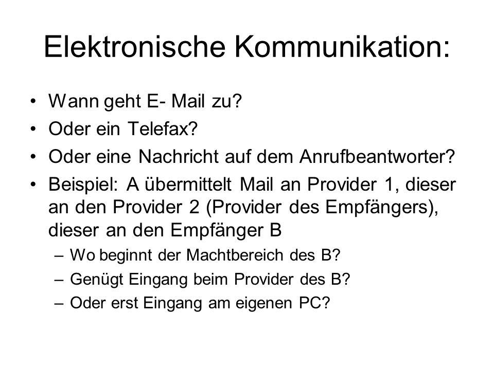 Elektronische Kommunikation: