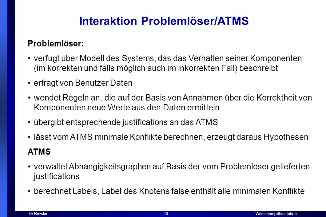 Interaktion Problemlöser/ATMS