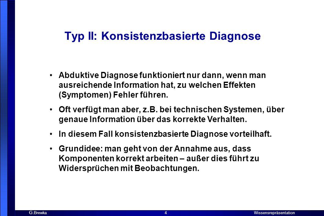 Typ II: Konsistenzbasierte Diagnose