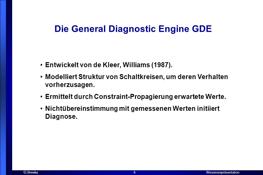 Die General Diagnostic Engine GDE