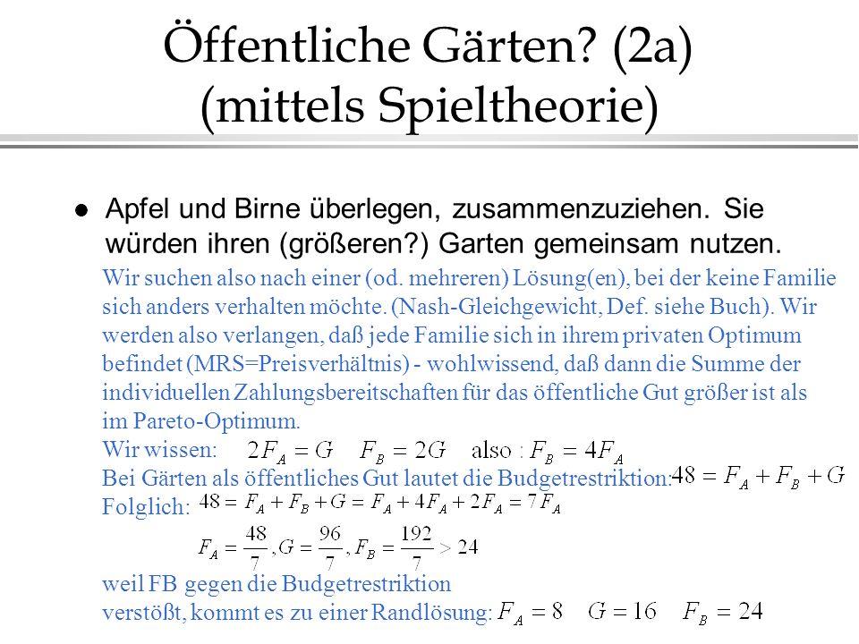 Öffentliche Gärten (2a) (mittels Spieltheorie)