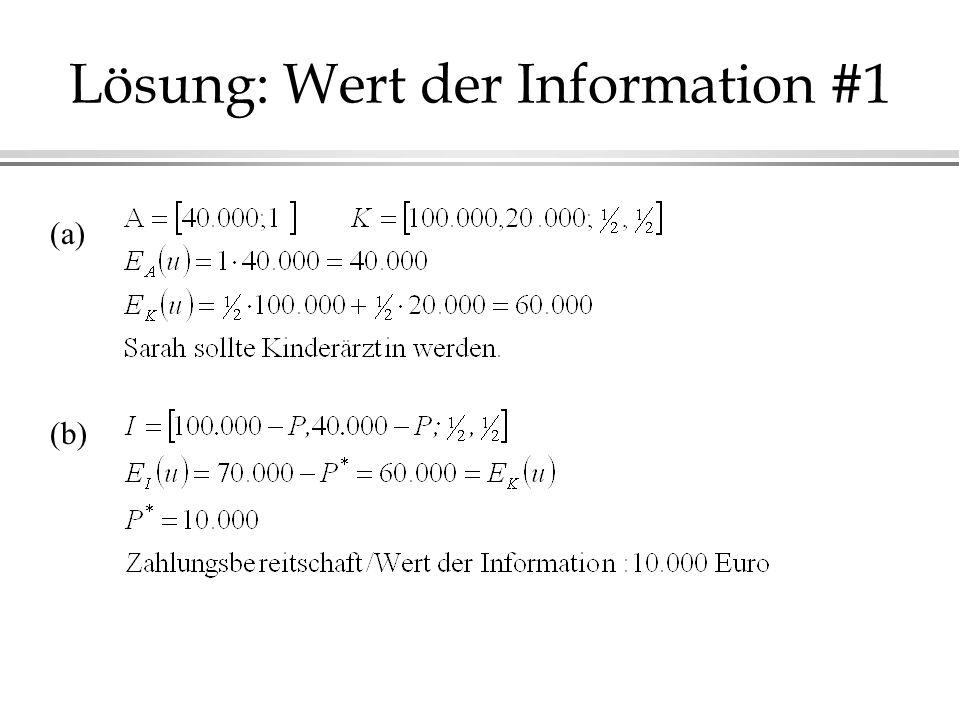 Lösung: Wert der Information #1