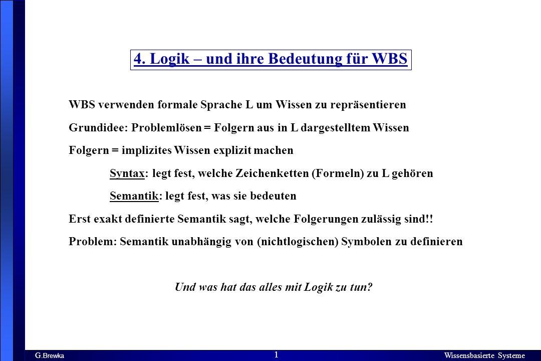 4. Logik – und ihre Bedeutung für WBS