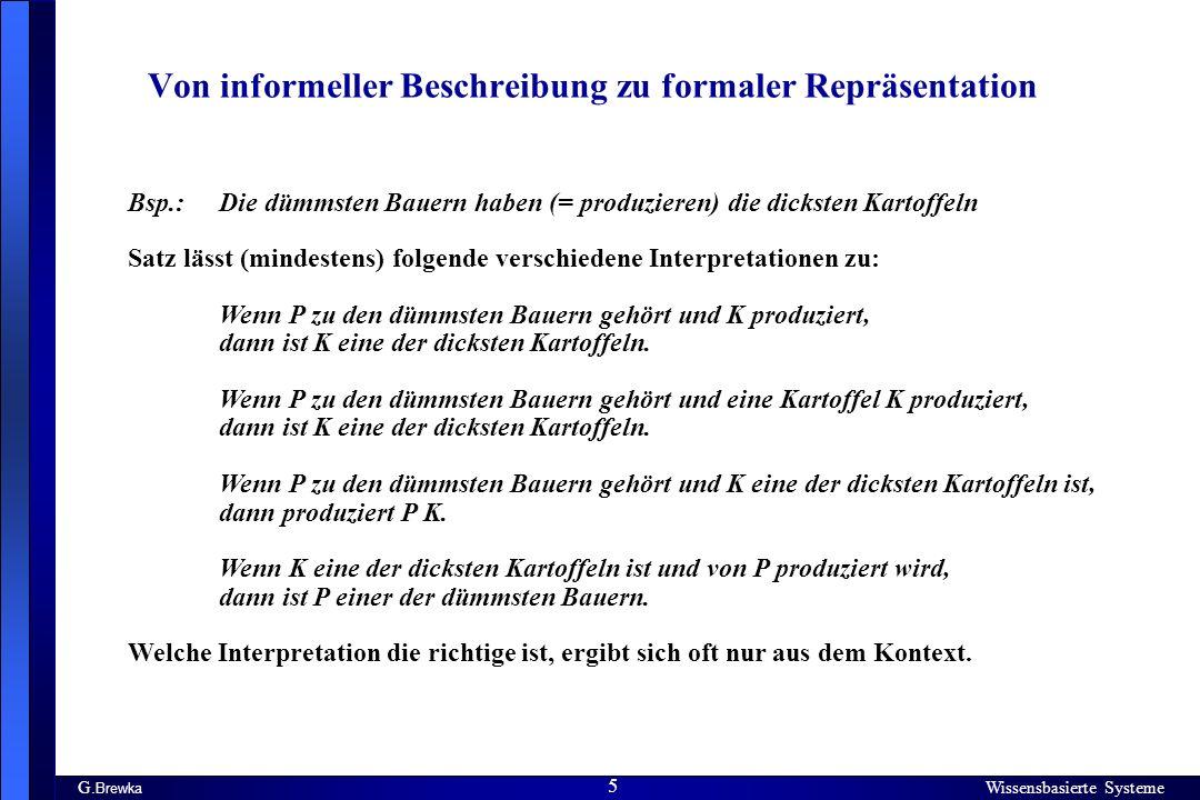 Von informeller Beschreibung zu formaler Repräsentation