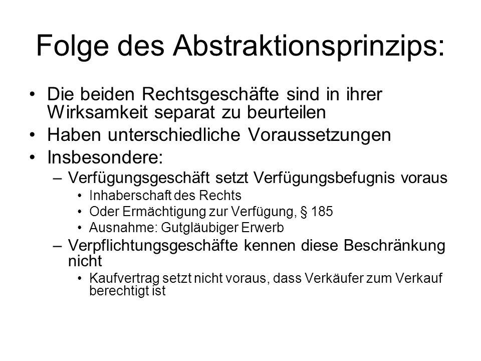 Folge des Abstraktionsprinzips: