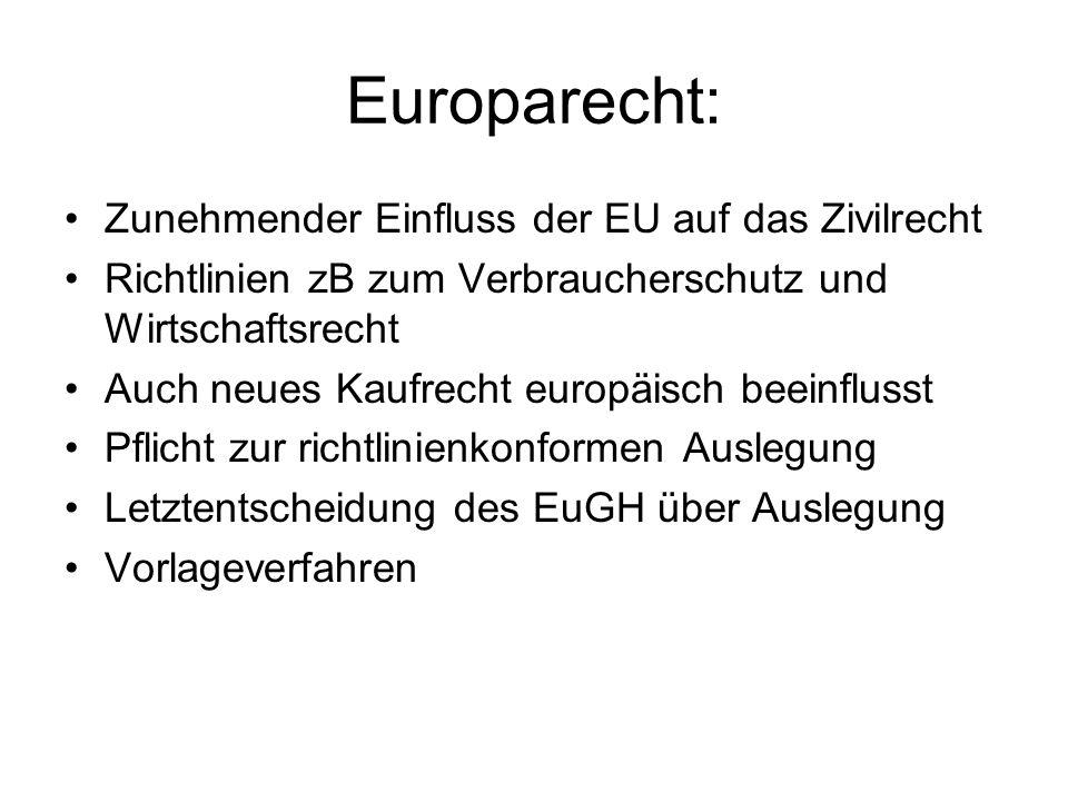 Europarecht: Zunehmender Einfluss der EU auf das Zivilrecht
