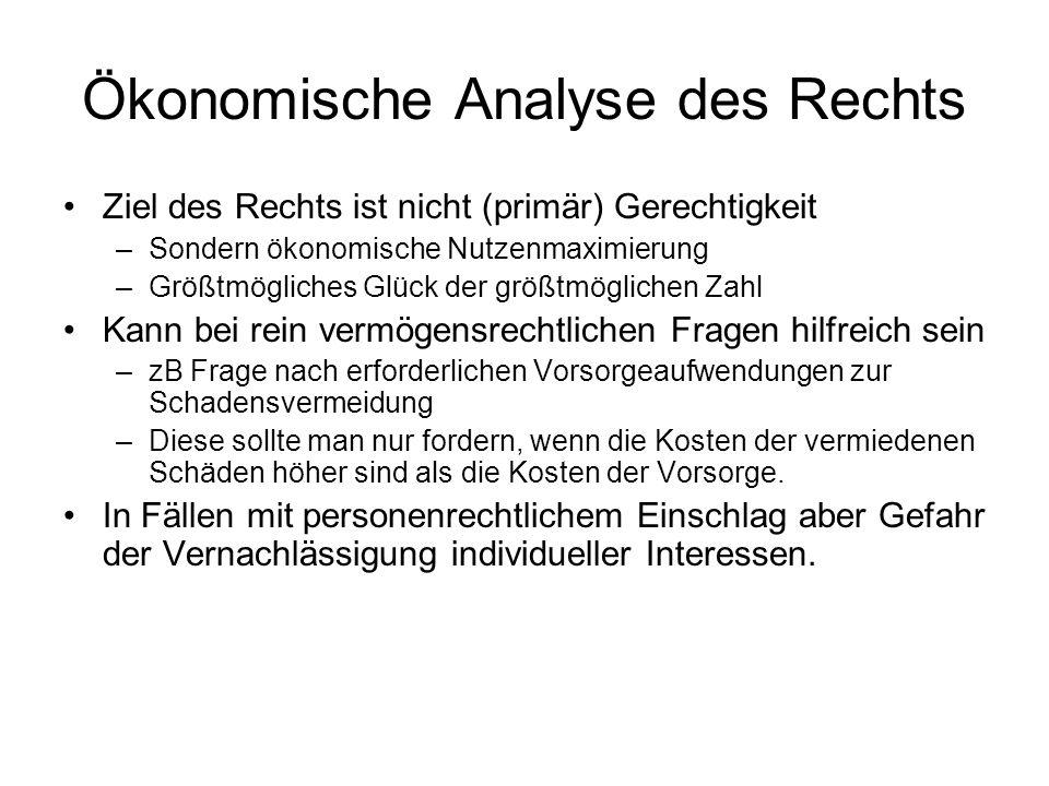 Ökonomische Analyse des Rechts