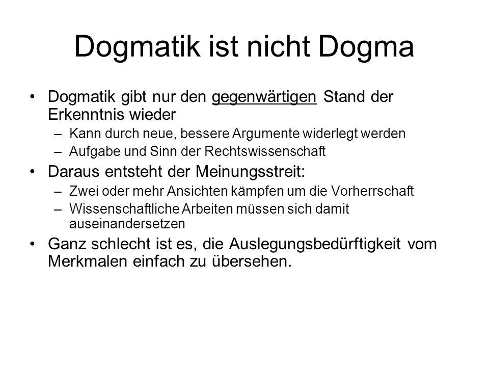 Dogmatik ist nicht Dogma