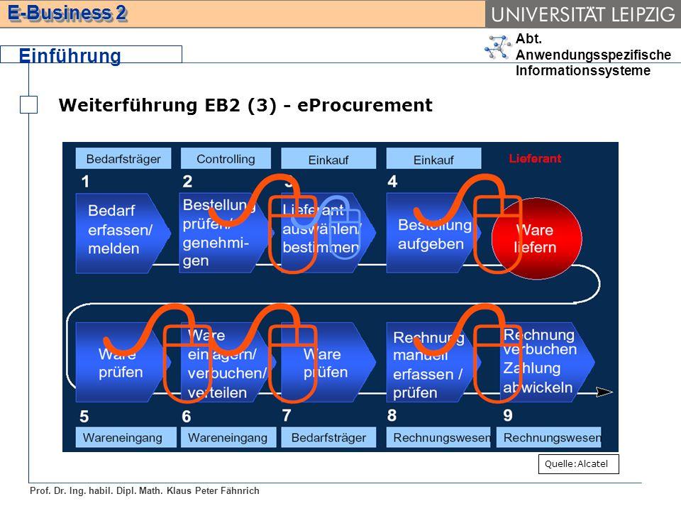 Einführung Weiterführung EB2 (3) - eProcurement Quelle:Alcatel