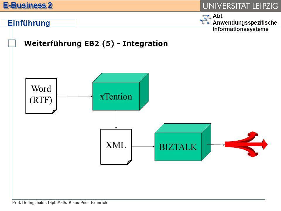 Word xTention (RTF) BIZTALK XML Einführung
