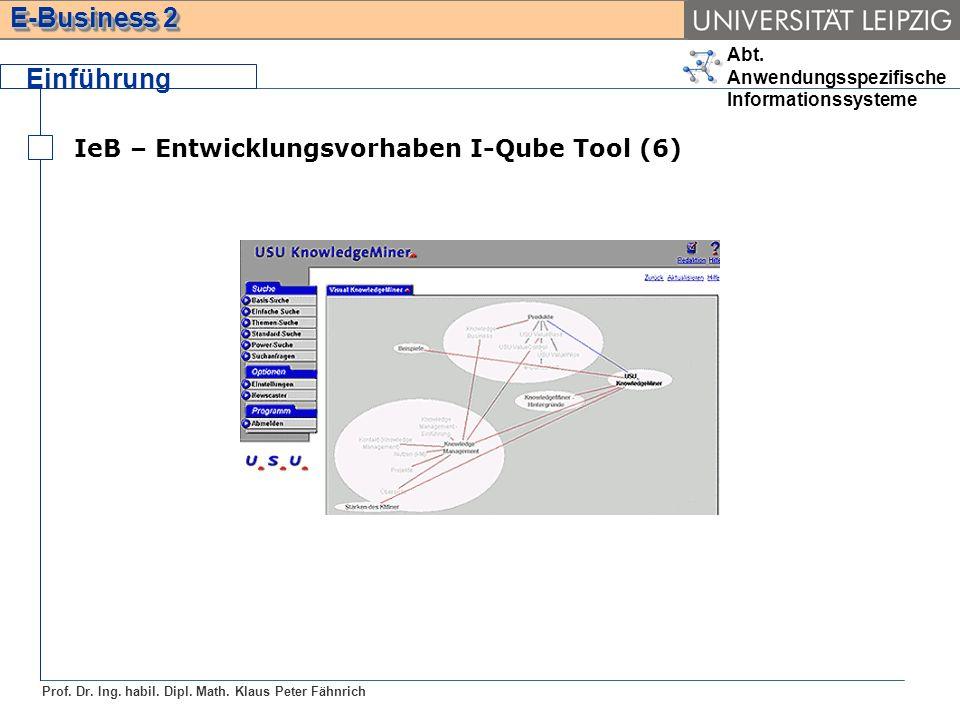 Einführung IeB – Entwicklungsvorhaben I-Qube Tool (6)