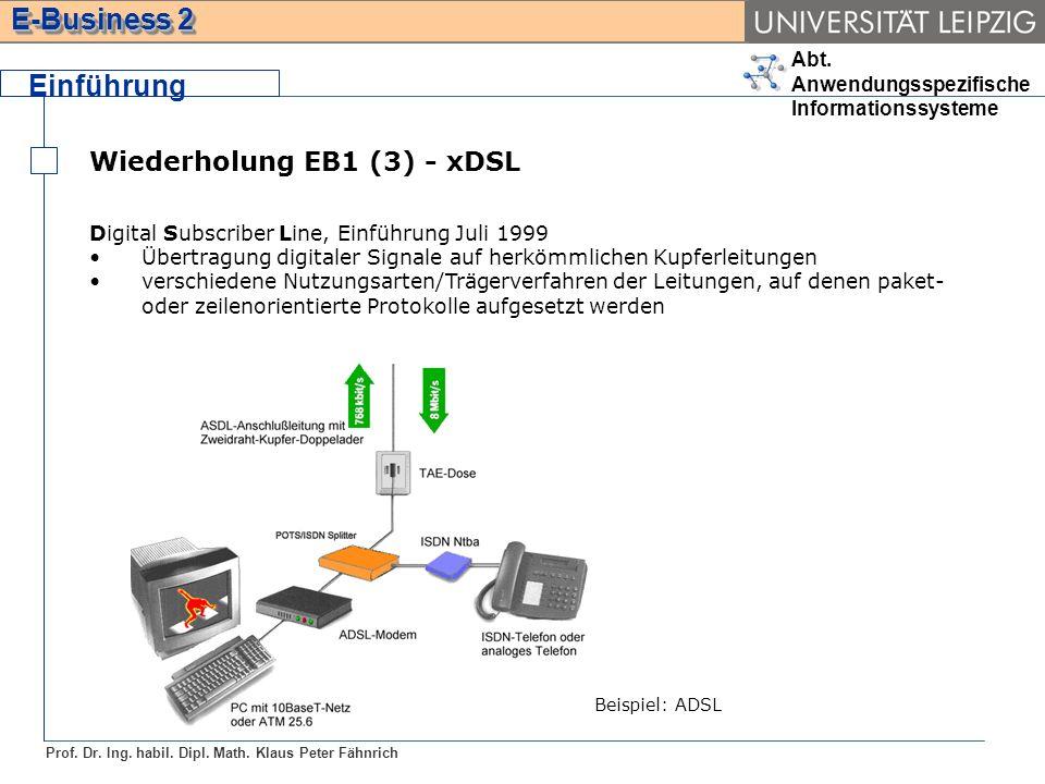 Einführung Wiederholung EB1 (3) - xDSL