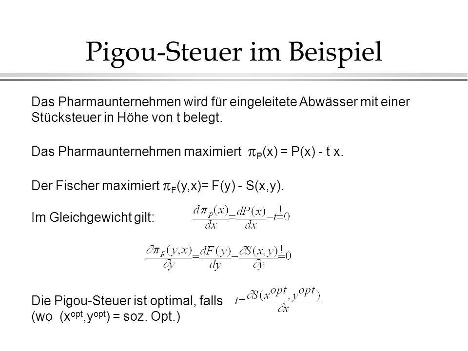 Pigou-Steuer im Beispiel