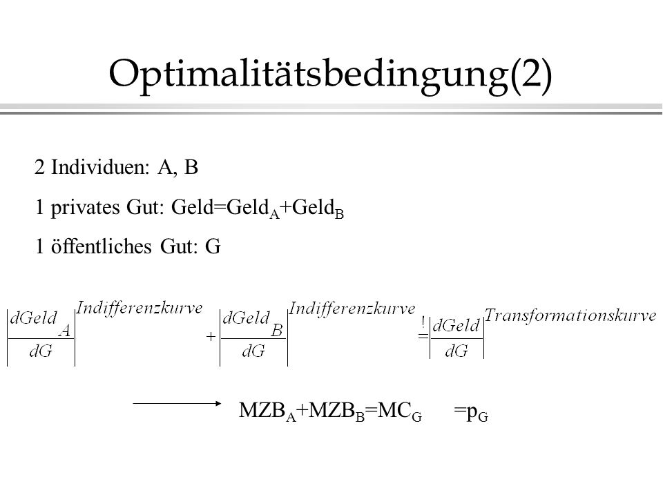 Optimalitätsbedingung(2)