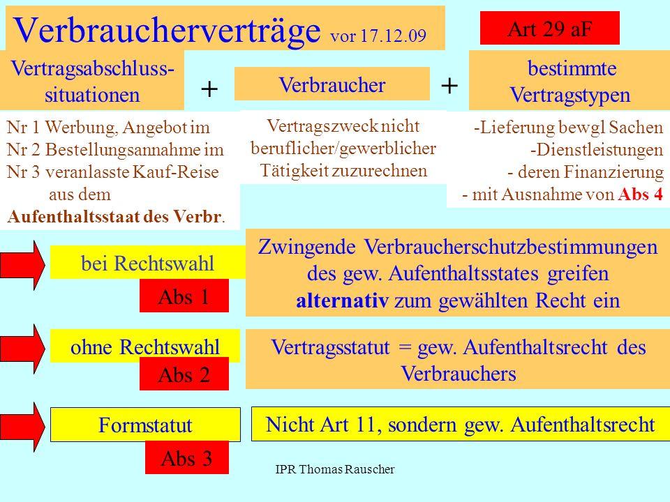 Verbraucherverträge vor 17.12.09