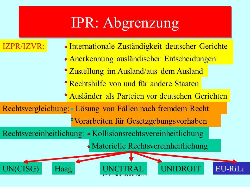 IPR: Abgrenzung IZPR/IZVR: