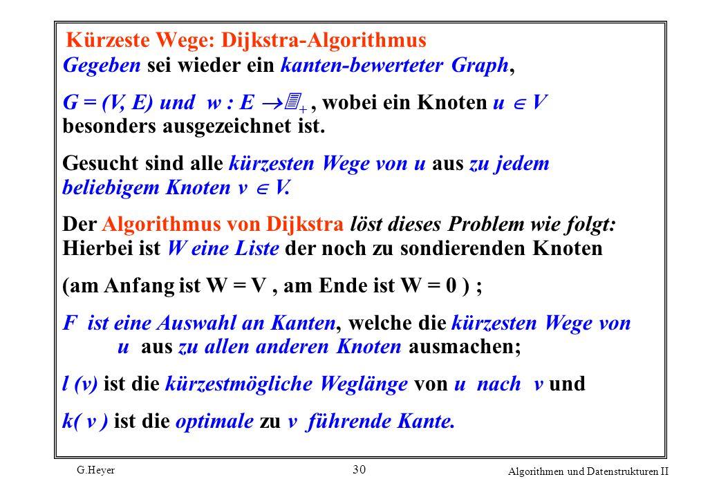 Kürzeste Wege: Dijkstra-Algorithmus