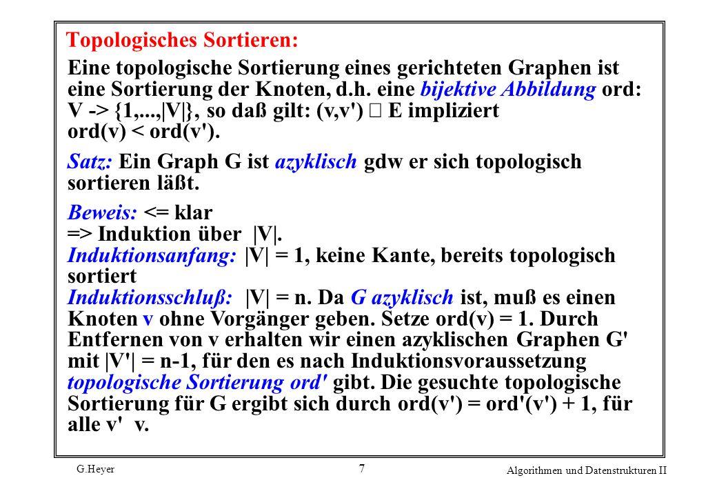 Topologisches Sortieren: