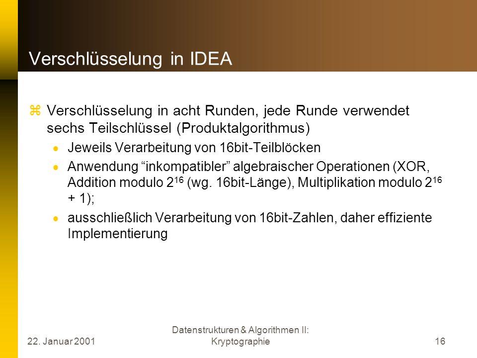 Verschlüsselung in IDEA