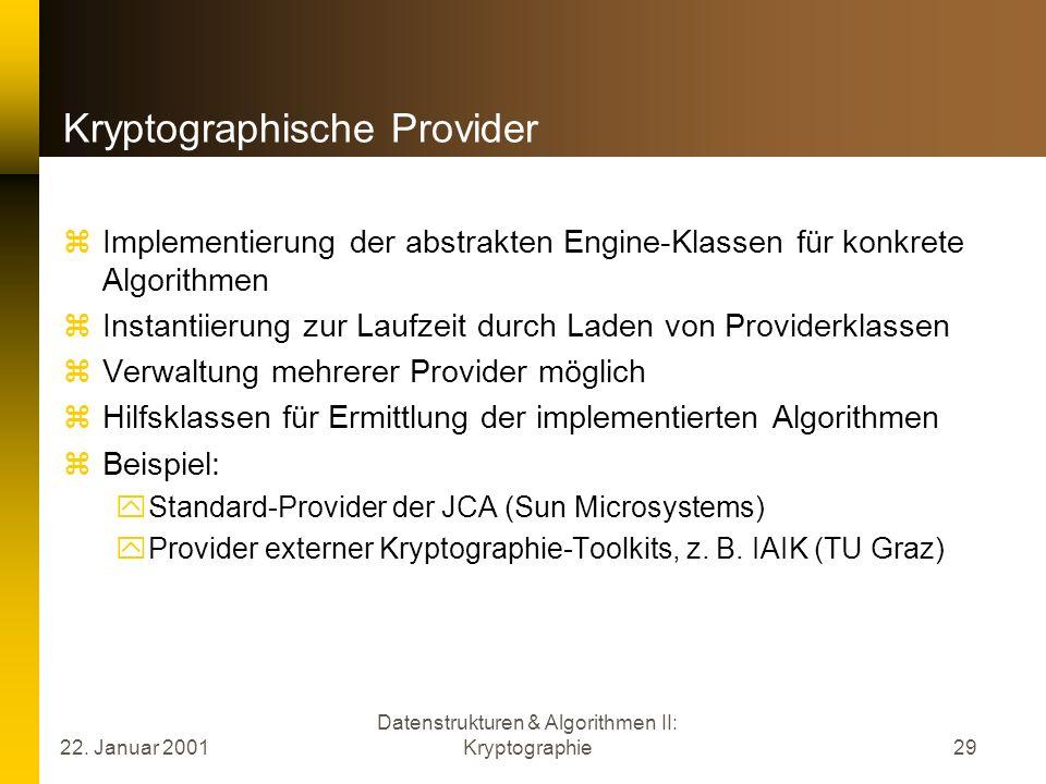 Kryptographische Provider