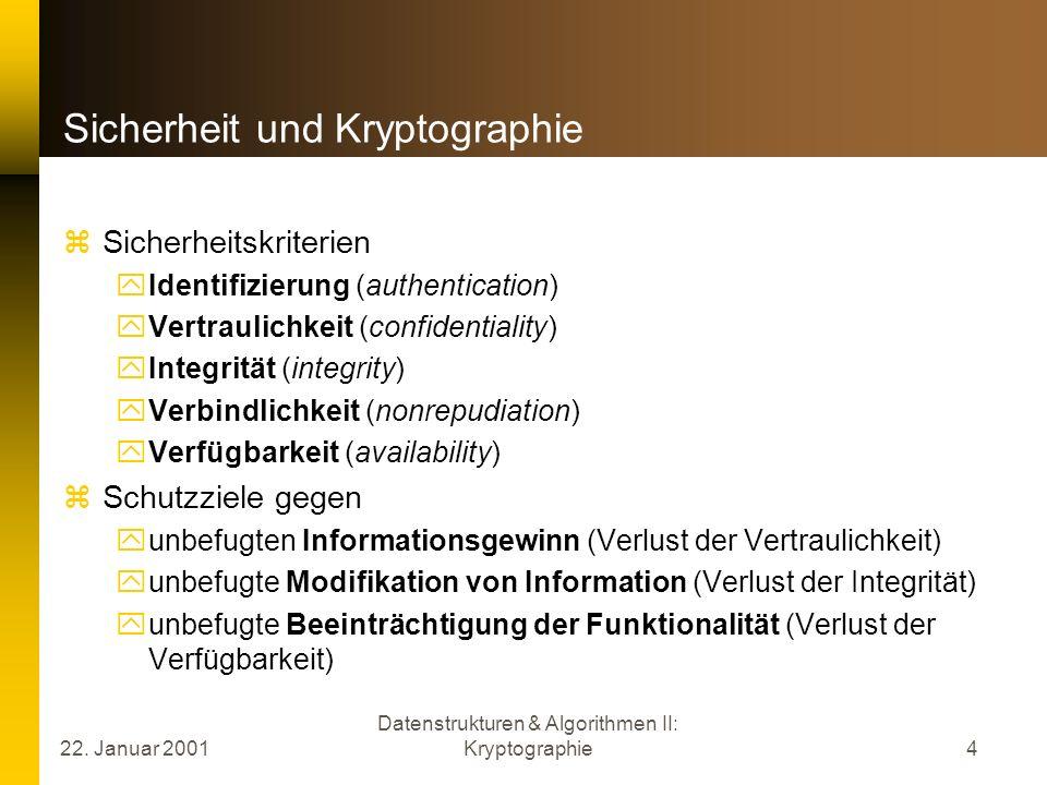 Sicherheit und Kryptographie