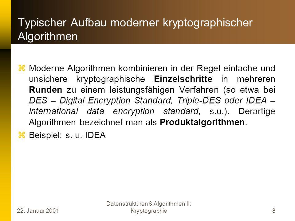 Typischer Aufbau moderner kryptographischer Algorithmen