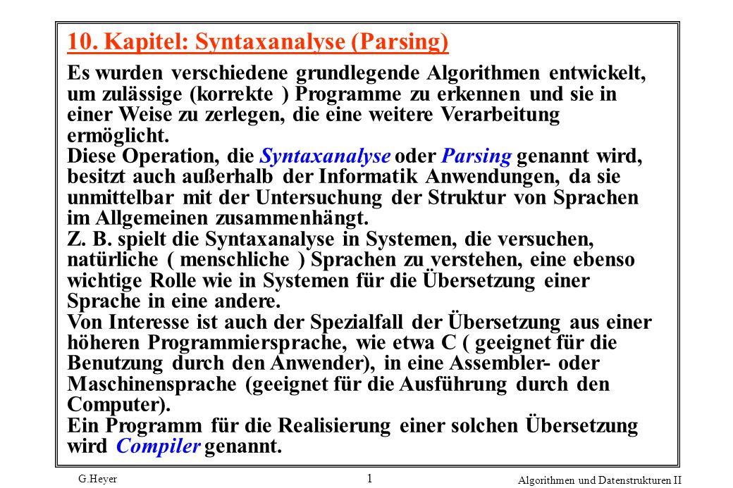 10. Kapitel: Syntaxanalyse (Parsing)