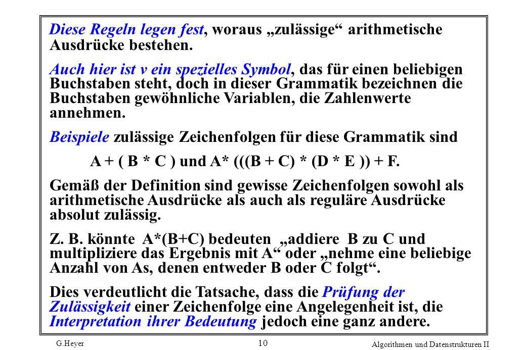 """Diese Regeln legen fest, woraus """"zulässige arithmetische"""