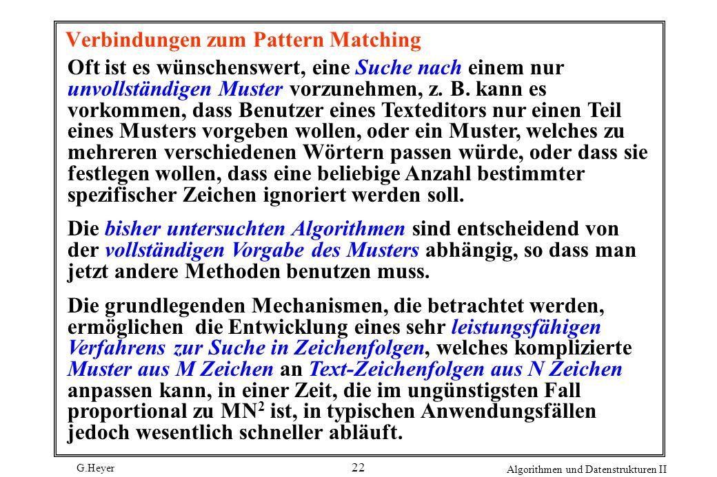 Verbindungen zum Pattern Matching