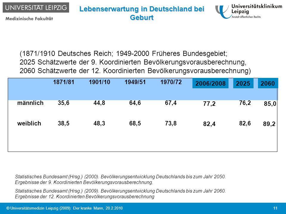 Lebenserwartung in Deutschland bei Geburt